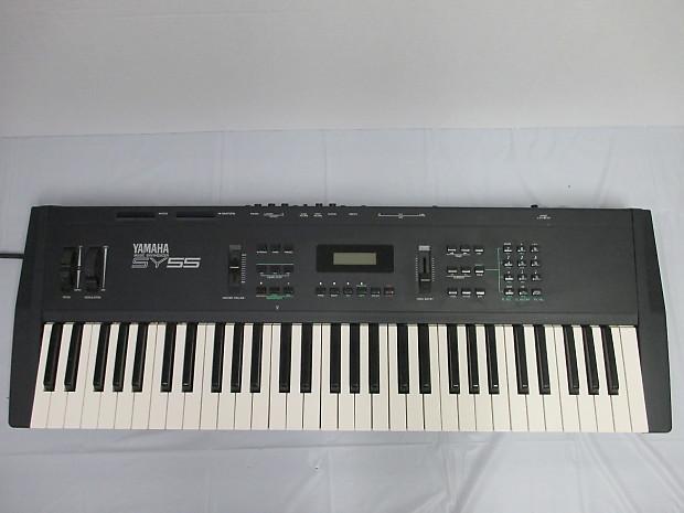 Yamaha sy55 vintage synthesizer keyboard midi piano reverb for Yamaha keyboard synthesizer