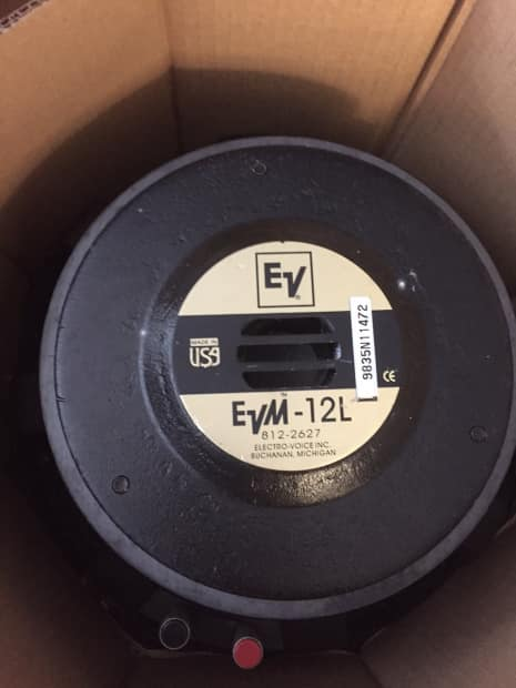 Electro Voice Evm 12l Black 8ohm 12 Quot Speaker Evm 12l