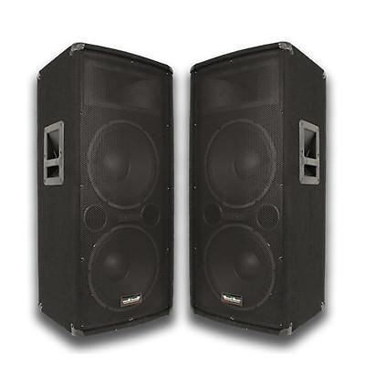 Pair dual 12 pa dj speakers pair 12 floor monitors reverb for 12 floor speakers