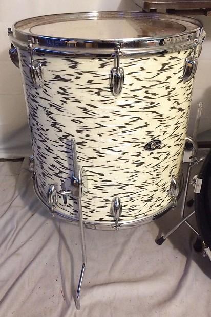 vintage slingerland white tiger pearl drum set made in reverb. Black Bedroom Furniture Sets. Home Design Ideas
