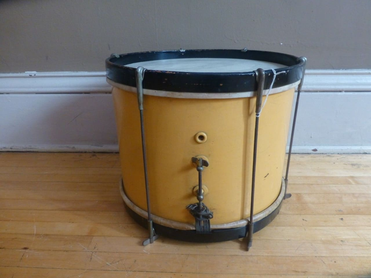 vintage 50 39 s ludwig repainted 10x14 marching snare drum reverb. Black Bedroom Furniture Sets. Home Design Ideas
