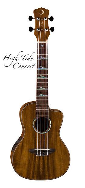 luna high tide koa acoustic electric concert ukulele w gig reverb. Black Bedroom Furniture Sets. Home Design Ideas