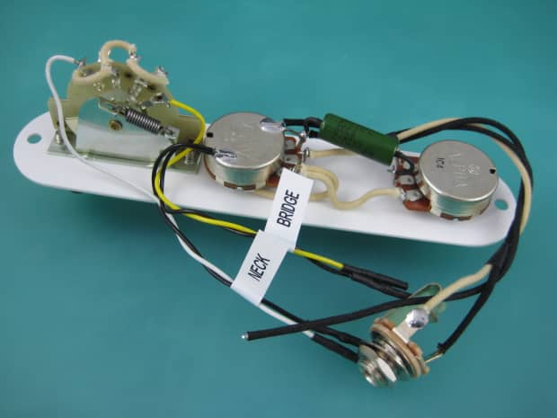 telecaster 52 rod wiring harness 375k pots minihumbucker reverb