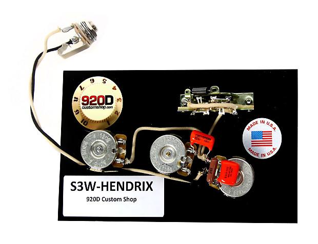 920d Strat Wiring Harness Hendrix 60 U0026 39 S 3 Way W  Blender