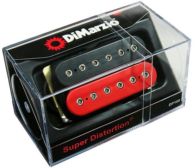 dimarzio dp100 super distortion humbucker pickup black red. Black Bedroom Furniture Sets. Home Design Ideas