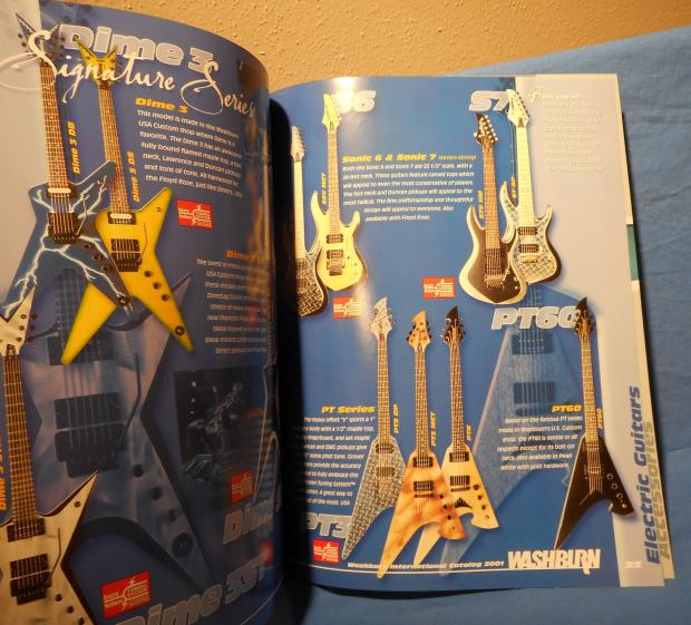new oldstock 2001 washburn guitar catalog 32 color paged with paul stanley and dimebag reverb. Black Bedroom Furniture Sets. Home Design Ideas