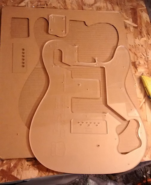 guitar f hole template - custom guitar building routing template telecaster deluxe