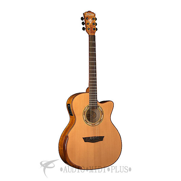 washburn comfort series acoustic guitar natural wcg66sce u reverb. Black Bedroom Furniture Sets. Home Design Ideas