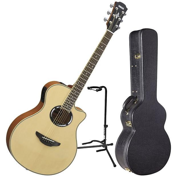 yamaha apx500iii nt acoustic electric guitar bundle reverb