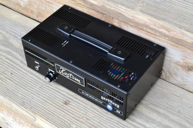 used kustom defender 5h tube guitar amplifier head free reverb. Black Bedroom Furniture Sets. Home Design Ideas