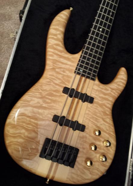 Carvin lb p string bass quilted maple top reverb