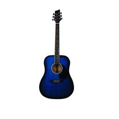 dreadnought acoustic guitar in blue burst double cutaway reverb. Black Bedroom Furniture Sets. Home Design Ideas
