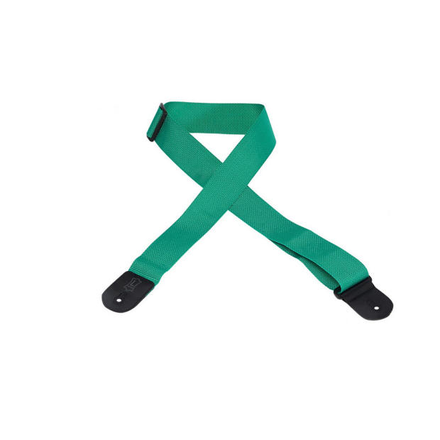 """Tri City Auto Sales >> Levy's 2"""" Basic Poly Guitar Strap with Tri-Glide Adjustment - Green 