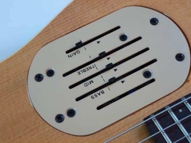 godin acousticaster with orig hard shell case reverb. Black Bedroom Furniture Sets. Home Design Ideas