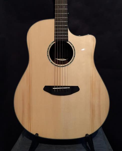 Fender CD220SCE Dreadnought Asian Ebony Striped Acoustic