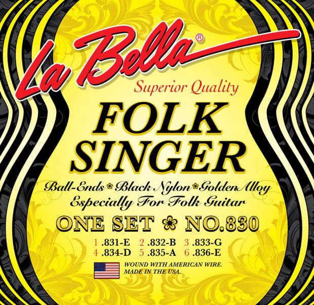 3 sets la bella 830 folk singer ball end nylon guitar strings reverb. Black Bedroom Furniture Sets. Home Design Ideas