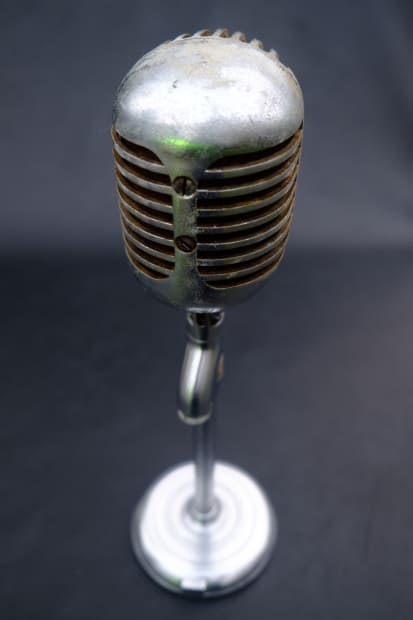 Rj Auto Sales >> Vintage Shure 55 FAT BOY Dynamic Microphone Made in USA ...