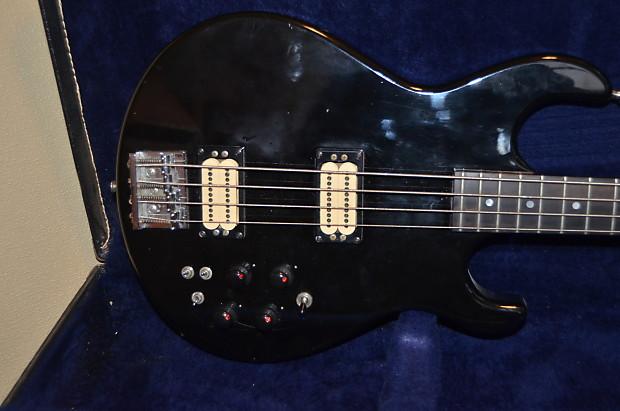 carvin lb50 1980 39 s black four string bass guitar and case reverb. Black Bedroom Furniture Sets. Home Design Ideas