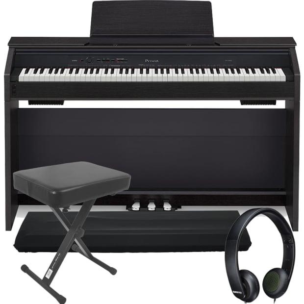 casio privia px 860 88 key digital piano black bench dust reverb. Black Bedroom Furniture Sets. Home Design Ideas