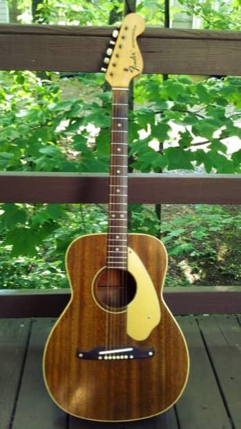 1969 fender newporter acoustic guitar mahogany reverb. Black Bedroom Furniture Sets. Home Design Ideas