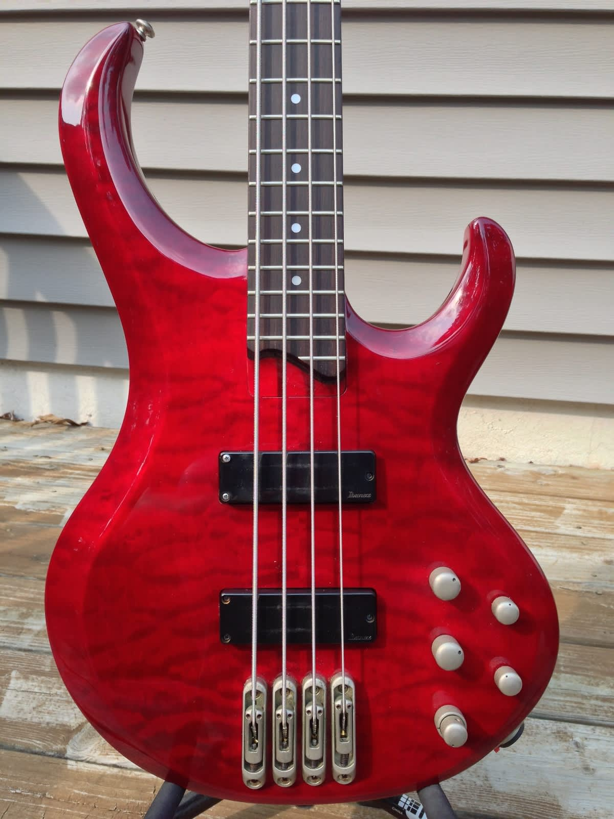 ibanez btb400qmtr 4 string quilted maple electric bass reverb. Black Bedroom Furniture Sets. Home Design Ideas