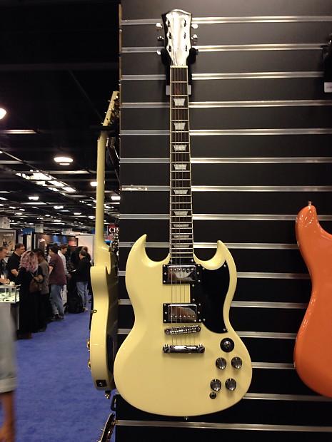 glen burton sg cream vintage style electric guitar reverb. Black Bedroom Furniture Sets. Home Design Ideas