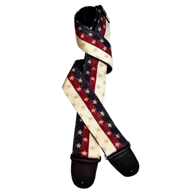 patriotic american flag artisan handmade guitar strap reverb. Black Bedroom Furniture Sets. Home Design Ideas