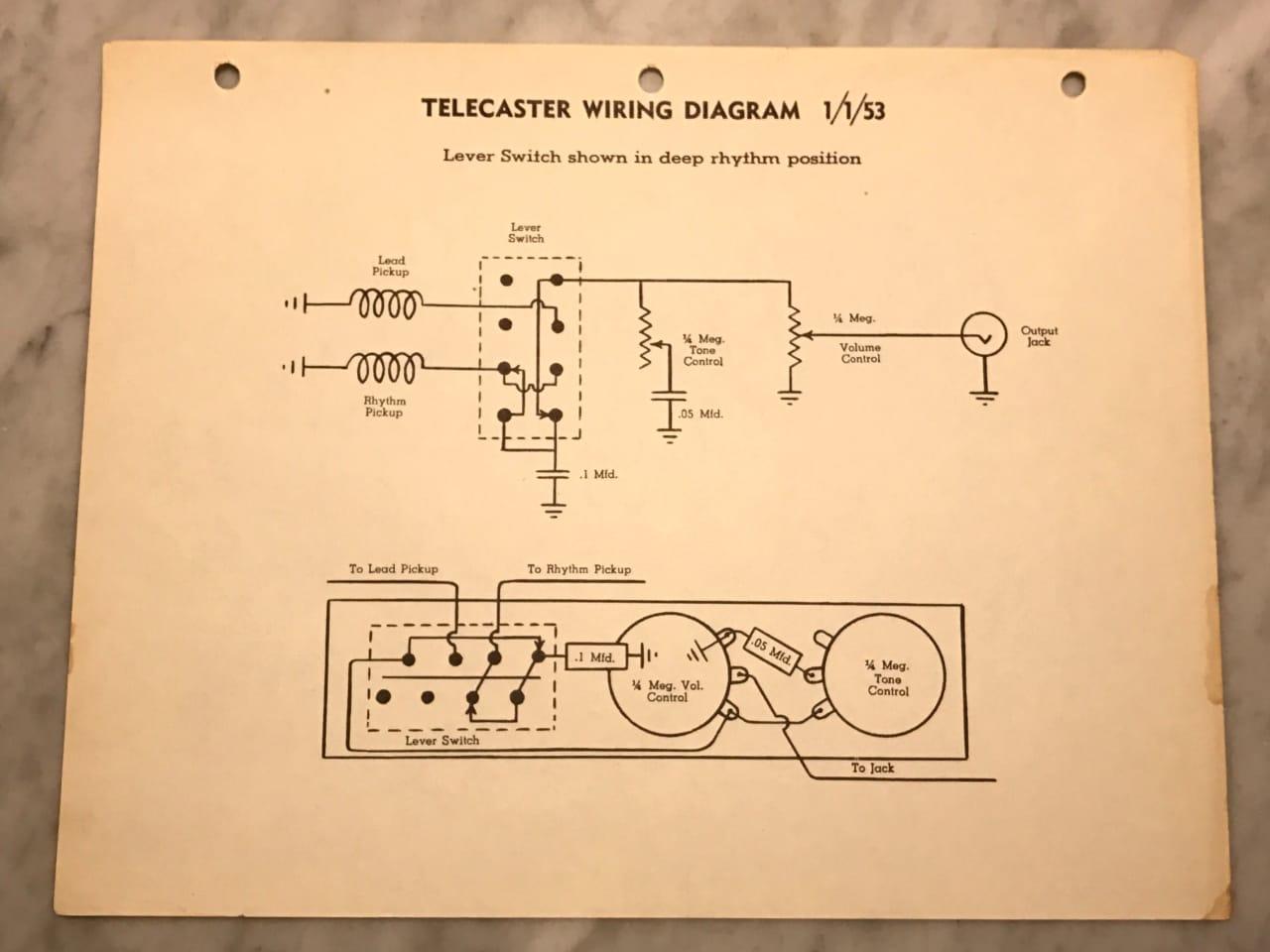 1953 Fender Telecaster Wiring Diagram