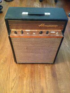 1968 AMPEG Reverbojet II 2 J12R Golden Glo Rare Guitar Combo Amp 1x12 image