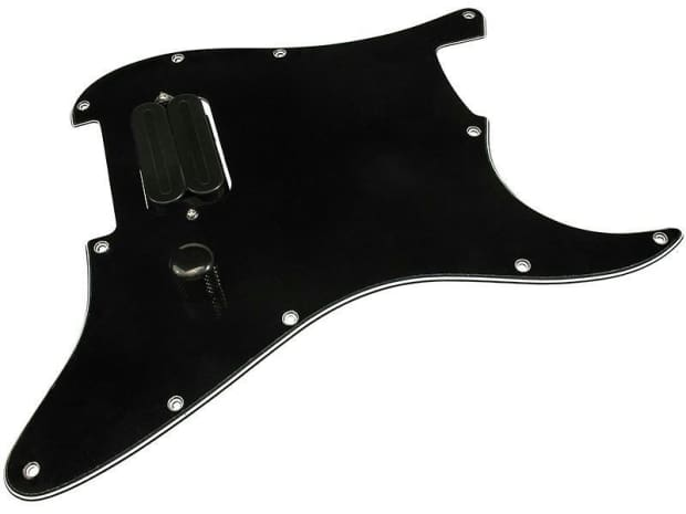 loaded stratocaster pickguard 1 humbucker with dimarzio x2n reverb. Black Bedroom Furniture Sets. Home Design Ideas