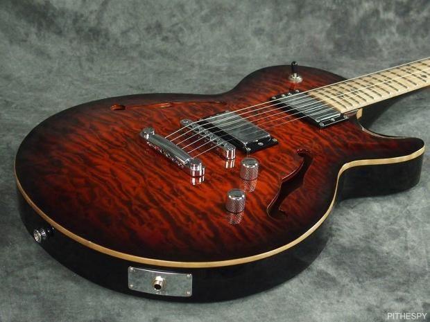 Carvin sh semi hollow carved top jazz guitar quilted