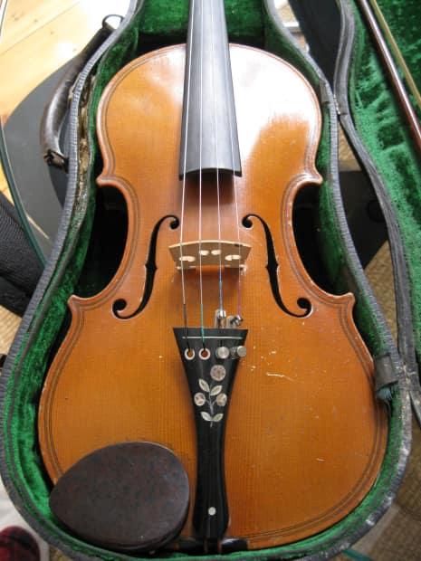 Progressive Auto Sales >> Vintage Antique Violin, Original Case and Bow, Made in   Reverb