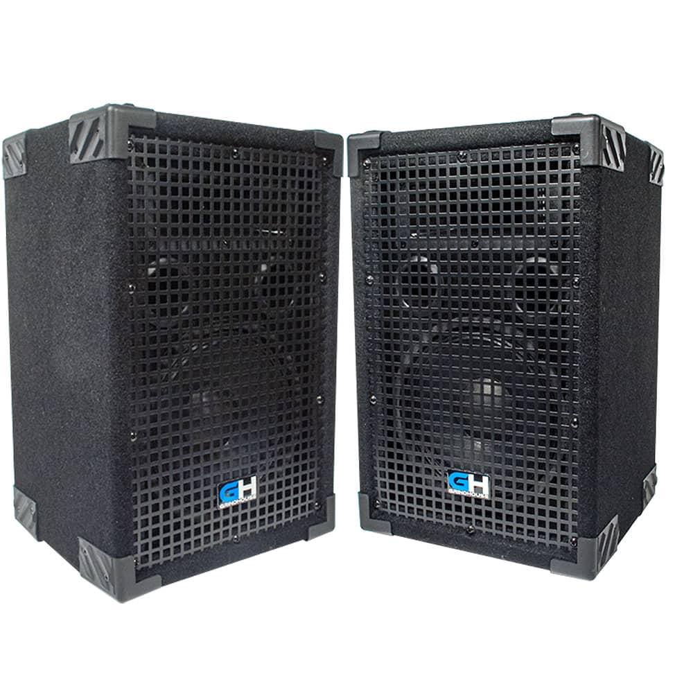 800w pair of 8 inch passive full range pa speakers home dj reverb. Black Bedroom Furniture Sets. Home Design Ideas