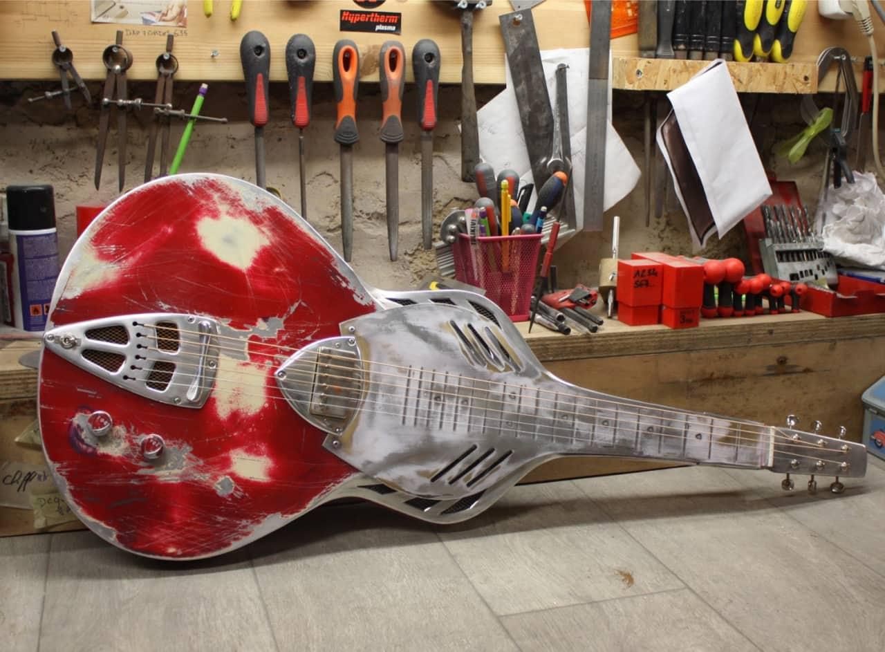 Meloduende Guitars Paris Texas Custom Weissenborn Style