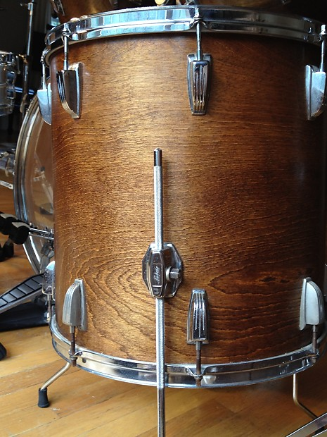 Ludwig rocker 1979 1980 natural wood mahogony reverb for 13 inch floor tom