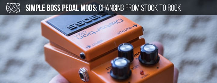 Simple Boss Pedal Mods: Changing from Stock to Rock
