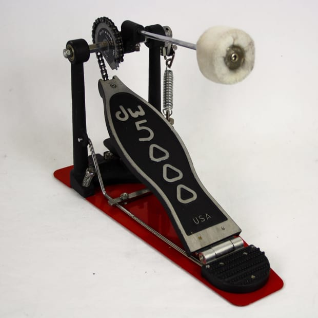 dw 5000 usa single bass drum foot pedal red single chain reverb. Black Bedroom Furniture Sets. Home Design Ideas