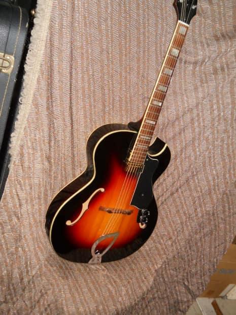 1963 guild ca 100 acoustic archtop guitar sunburst w floating reverb. Black Bedroom Furniture Sets. Home Design Ideas