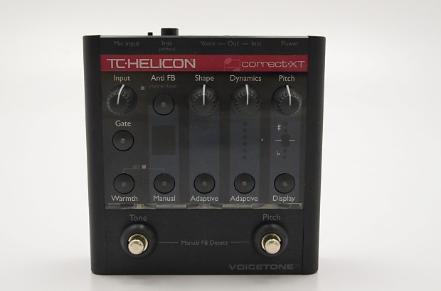 tc helicon voicetone correct xt vocal effects pedal reverb. Black Bedroom Furniture Sets. Home Design Ideas