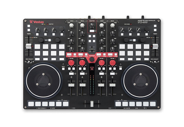 vestax vci 400 professional midi and audio dj controller with reverb. Black Bedroom Furniture Sets. Home Design Ideas