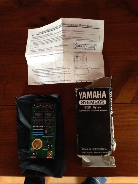 Yamaha syemb05 512k bytes expansion memory board sy99 rare for Yamaha mx61 specs