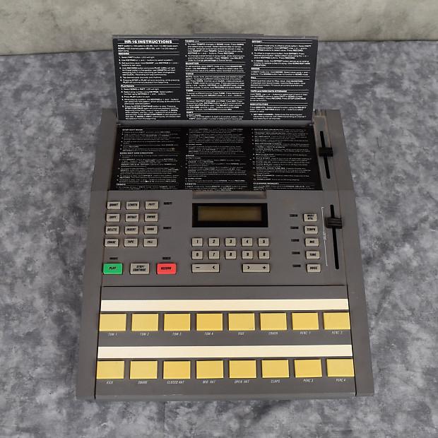 alesis hr 16 high sample rate 16 bit drum machine w manual reverb. Black Bedroom Furniture Sets. Home Design Ideas