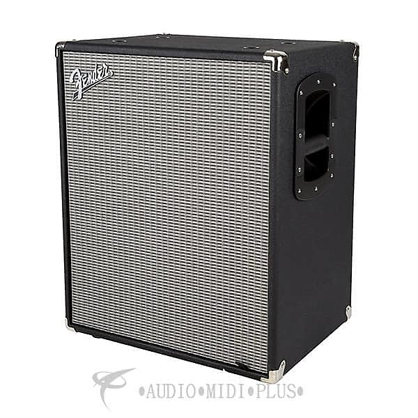 Fender rumble 210 cabinet guitar amplifier black and for Black and silver cabinet