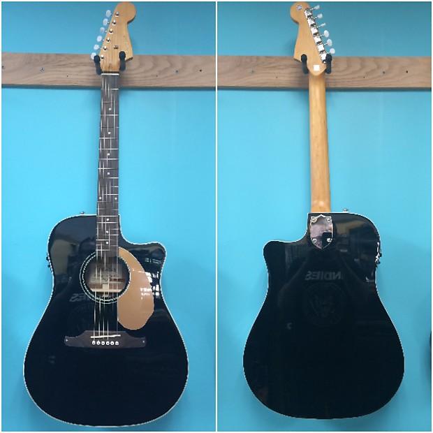 Fender Sonoran Thinline Black Acoustic Electric Guitar