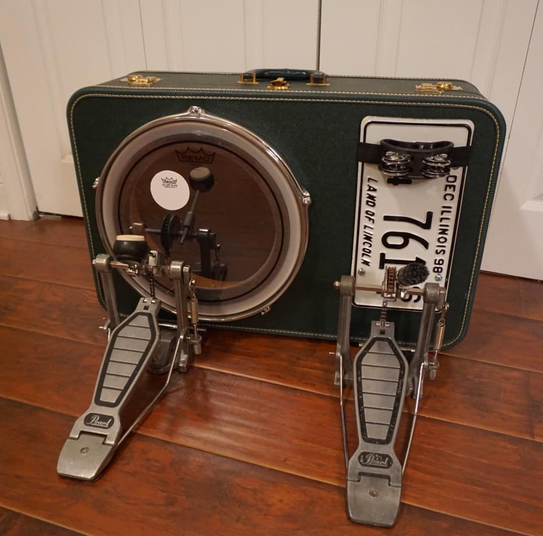 how to make a kick drum out of a suitcase