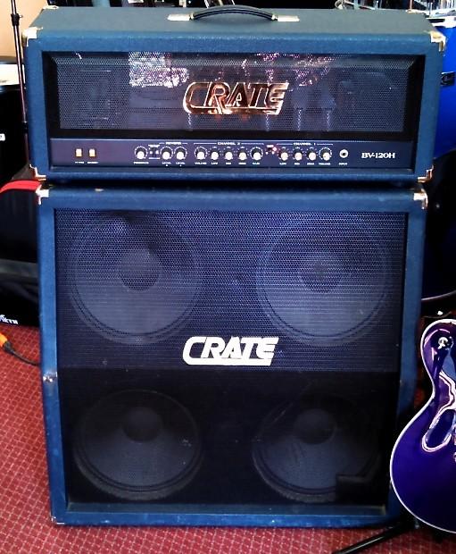 crate blue voodoo bv120h all tube bv412s half stack reverb. Black Bedroom Furniture Sets. Home Design Ideas
