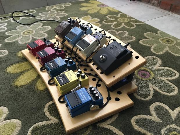 ultimate pedal board boss waza craft overdrive blues driver super looper voodoo lab power supply. Black Bedroom Furniture Sets. Home Design Ideas