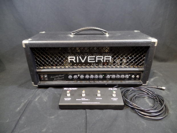 rivera knucklehead tre reverb 2 channel 120 watt all tube guitar head amplifier foot switch. Black Bedroom Furniture Sets. Home Design Ideas