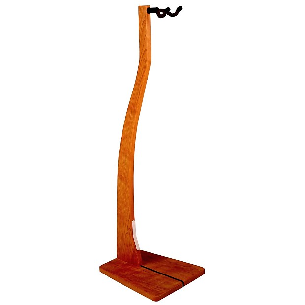 Handcrafted Wooden Guitar Stands ~ So there handcrafted solid cherry wooden guitar stand reverb