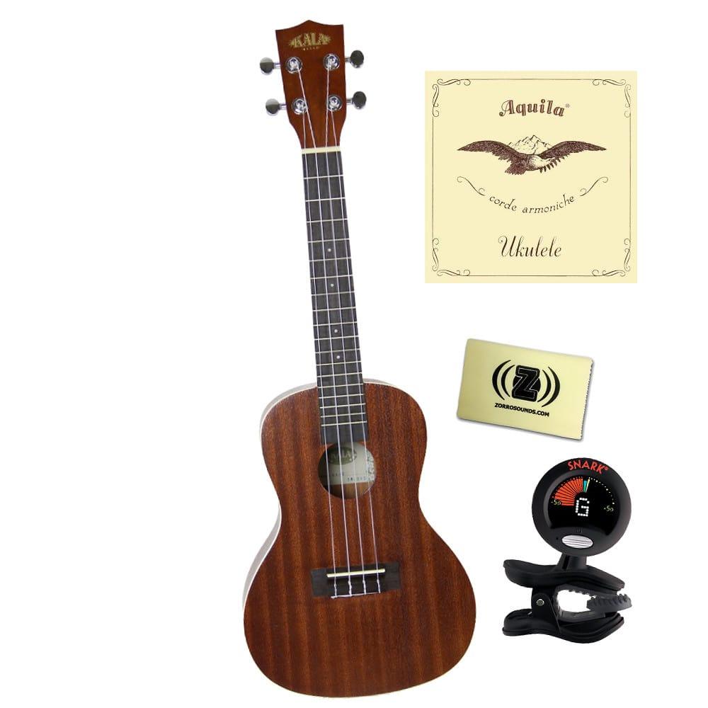 kala ka c concert ukulele bundle with tuner polishing cloth reverb. Black Bedroom Furniture Sets. Home Design Ideas